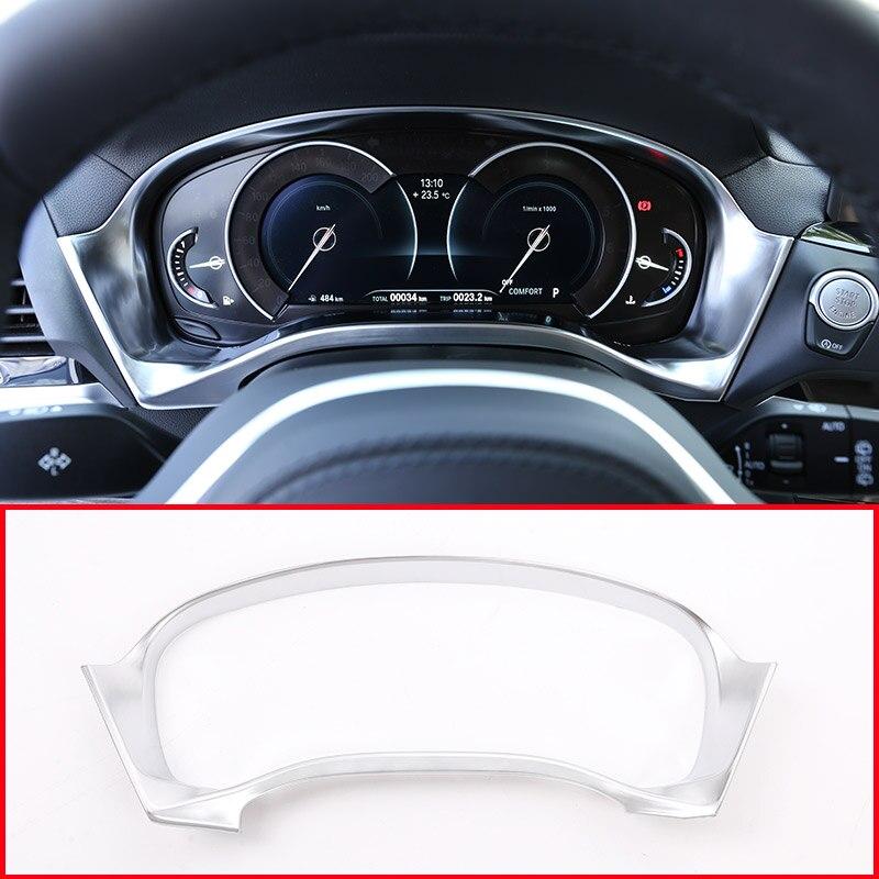 1 pièces ABS mat Center tableau de bord vitesse décoration cadre garniture pour BMW X3 G01 2018 accessoires de voiture