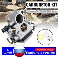 Caruretor carb junta filtro spark plug chainsaw kit 545072601 586936202 574719402 para zama husqvarna 240 240e 235 235e 236 240