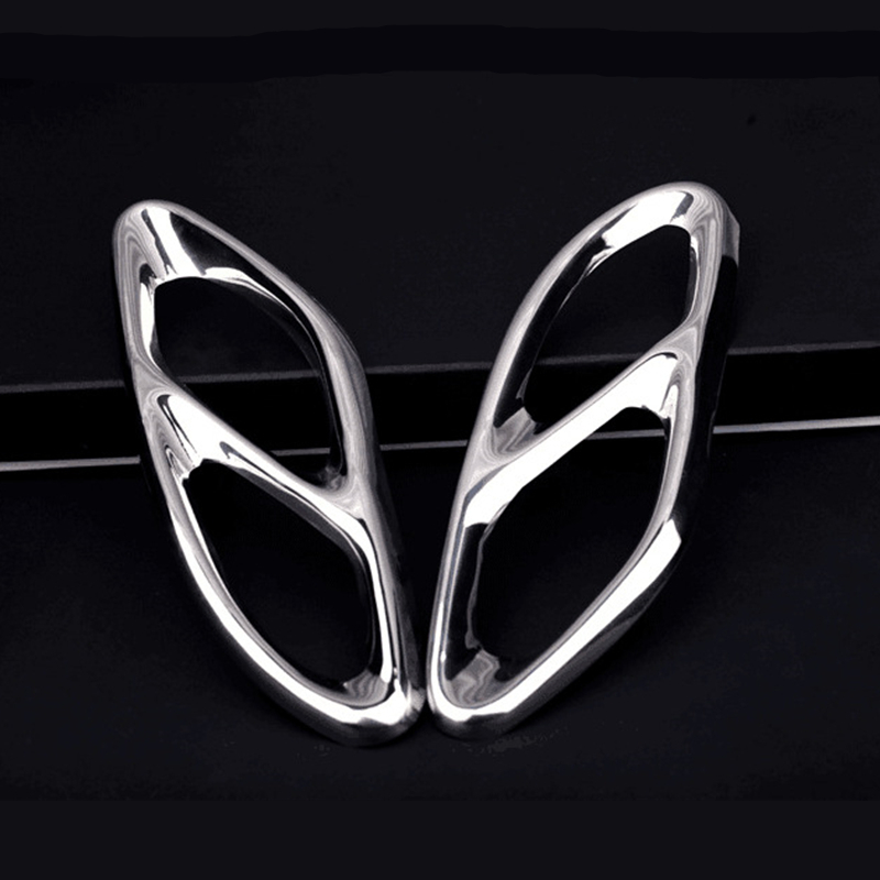 Exhaust Pipe Tail Cover Trim For <font><b>Mercedes</b></font>-Benz A B C E Class W213 W205 GLC <font><b>A180</b></font> A200 W176 Coupe GLC GLE AMG Car Accessories image