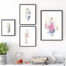 Ballet Princess Watercolor Canvas Printed Painting Wall Pictures Home Decor Posters And Prints Art For Living Room Decoration