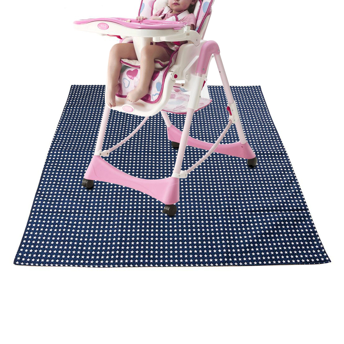 LBER Baby High Chair Floor Mat Protector Cover Washable