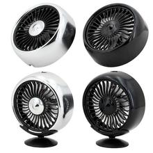 купить 12V Electric Car Fan 360 Degree Rotatable 2 Speed Dual Head Car Auto Cooling Air Circulator Fan for Van SUV RV Boat Auto онлайн