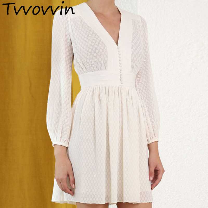 TVVOVVIN 2019 New Spring Ladies Clothes Road Excessive High quality Court docket Kinds Feminine Celebration Sleeve Waist Strong Colour E319 Attire, Low cost Attire, TVVOVVIN 2019 New Spring Ladies...