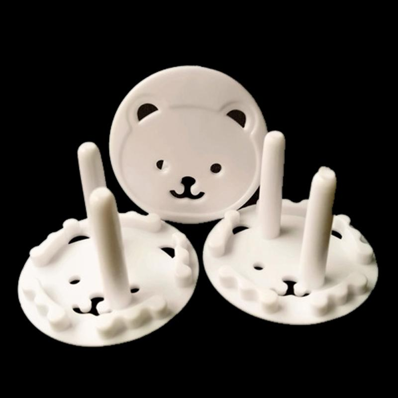 High Quality 10Pcs Cute Bear EU Power Socket Cover Plugs Cover Child Baby Safety Protector Proof Anti Electric Shock Guard Cap image