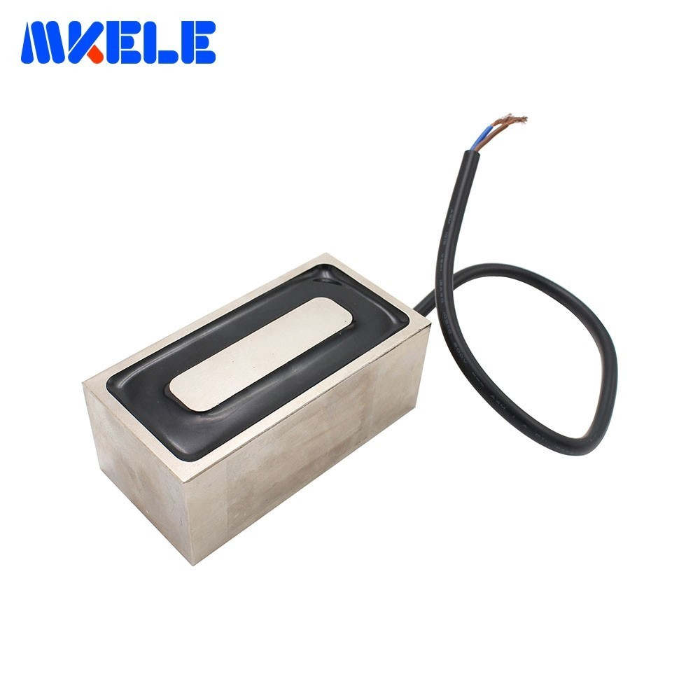 MKP100/50 Rectangle Electromagnet Holding Electric Magnet Pure Copper Coil Solenoid Sucker Electromagnet DC 12V 24VMKP100/50 Rectangle Electromagnet Holding Electric Magnet Pure Copper Coil Solenoid Sucker Electromagnet DC 12V 24V