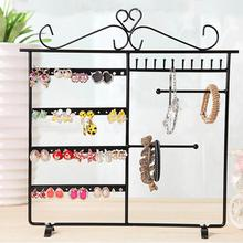 Fairy Style Jewelry Rack Earrings Necklace Display Metal Stand Organizer Holder European Rings Storage