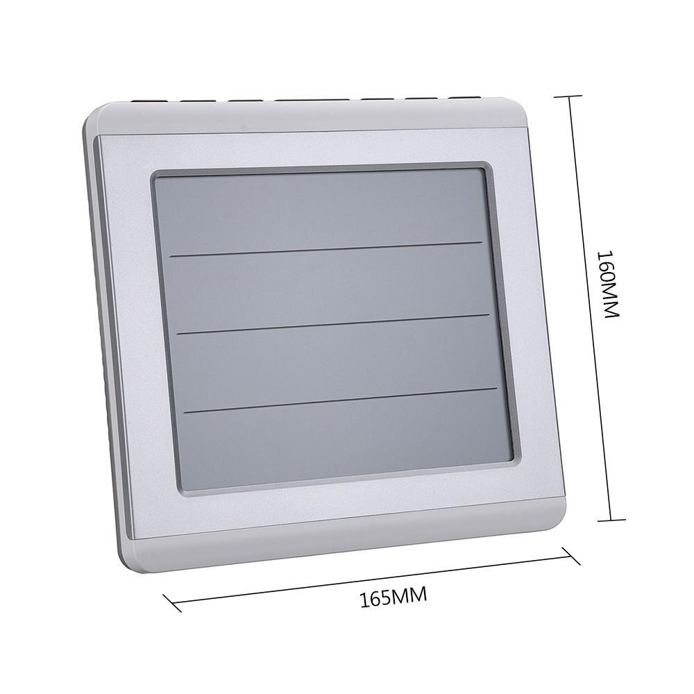 LCD thermomètre alarme température mètre Station météo testeur + 3 transmetteur extérieur sans fil capteur d'humidité moniteur alerte - 6