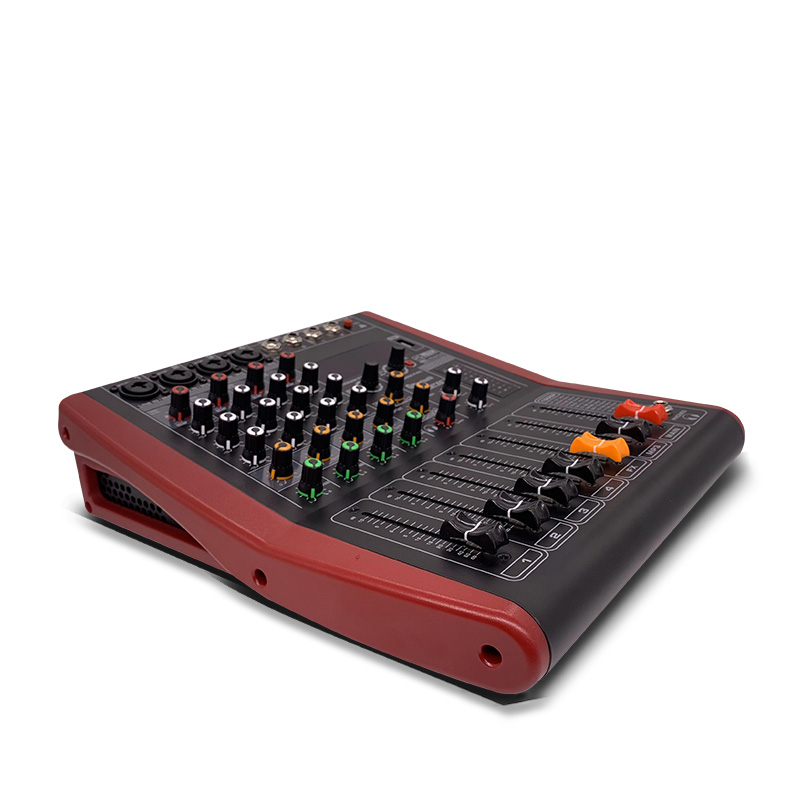 LEORY Professional USB Bluetooth mezclador 4 canales DJ consola mezclador controlador Karaoke 48V amplificador PARA Karaoke KTV partido - 5