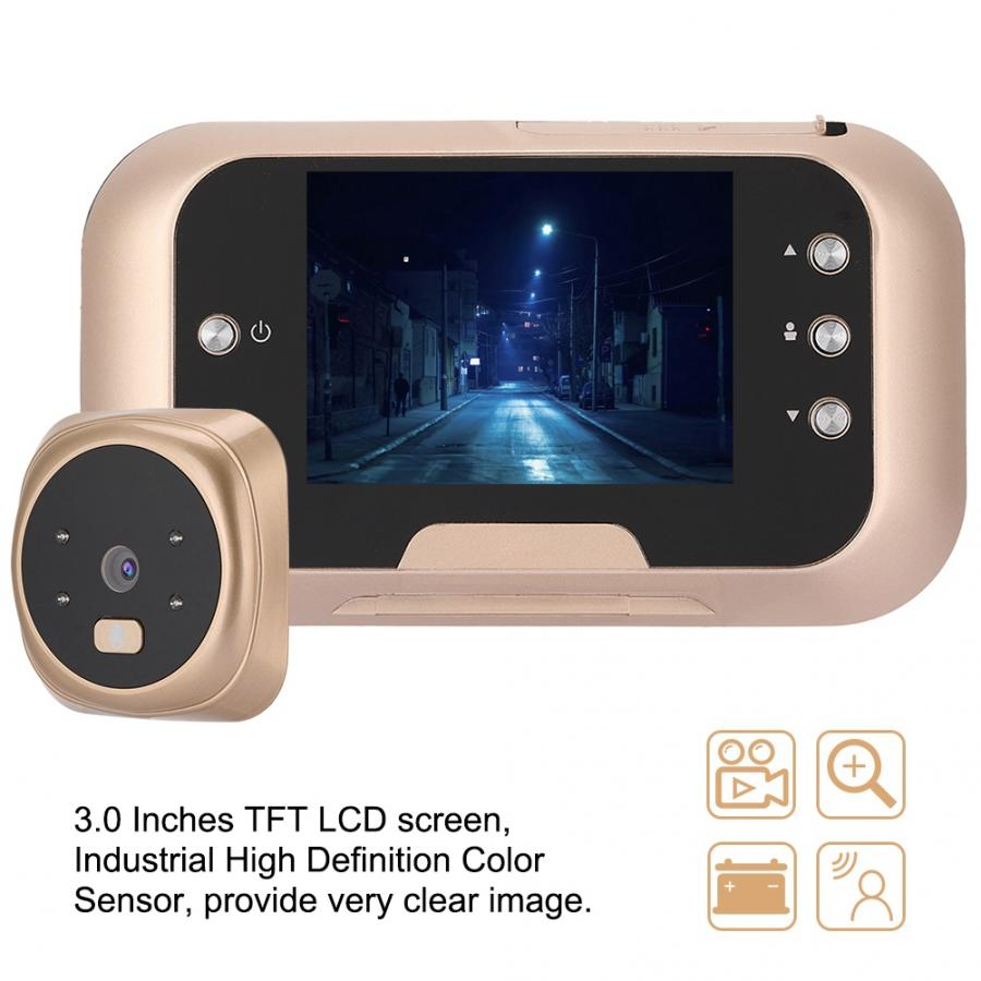 3 0 Inches Wireless Visual Video Peephole Viewer Electronic Night Vision Camera 110 240V mirilla digital