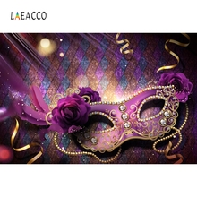 Laeacco Carnival Party Mask Rose Black Backdrop Photography Backgrounds Photographic Backdrops For Photo Studio