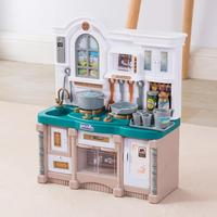 Children's Kitchen Play House Toys For Children's Suits Girls Cooking Simulation Sound And Light Educational Toys Gifts