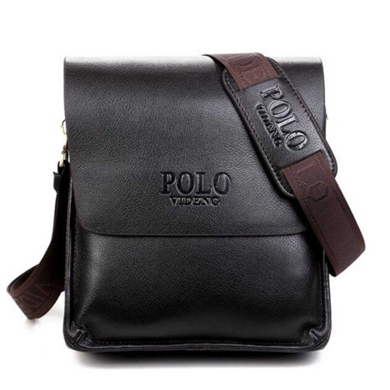 2018 Hot Sale Fashion Men Shoulder Bags Famous Brand Design Leather Male  Messenger Bag High Quality e697a7038265f
