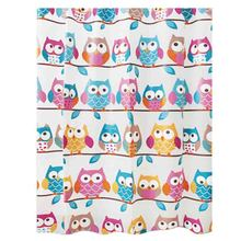 Cartoon Owl Shower Curtains Waterproof Bathroom Screen for Bath Home Decoration Product