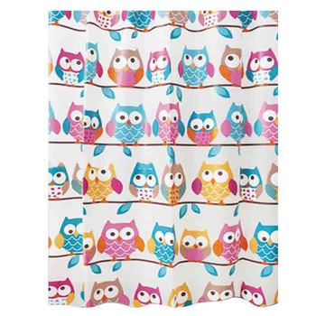 Cartoon Owl Shower Curtains Waterproof Bathroom Curtains Screen for Bath Home Decoration Bathroom Product