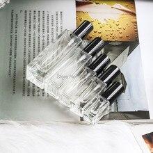 10 قطعة 3 مللي 4 مللي 7 مللي 20 مللي 30 مللي السفر الزجاج الشفاف رذاذ عطر صغيرة صغيرة فارغة رذاذ زجاجة إعادة الملء مع غطاء الذهب/الفضة
