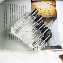10pcs 3ml 4ml 7ml 20ml 30ml Travel Clear Glass Perfume Atomizer Small Mini Empty Spray Refillable Bottle With Gold/Silver Cap