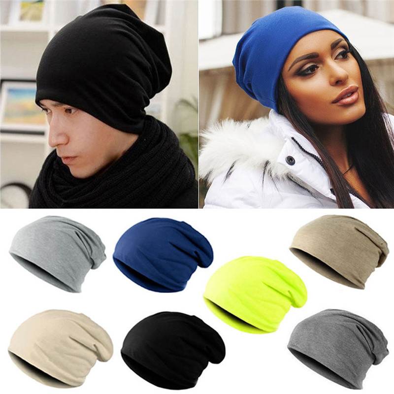 Solid Unisex  Beanie  Women Men Knit  Autumn Winter Soft Warm Knitted Cap Ski Crochet Slouch Hat Cap Beanies Casual Popular