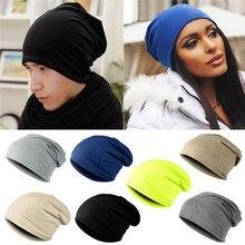 Solid Unisex Beanie Women Men Knit Autumn Winter Soft Warm Knitted Cap Ski Croch