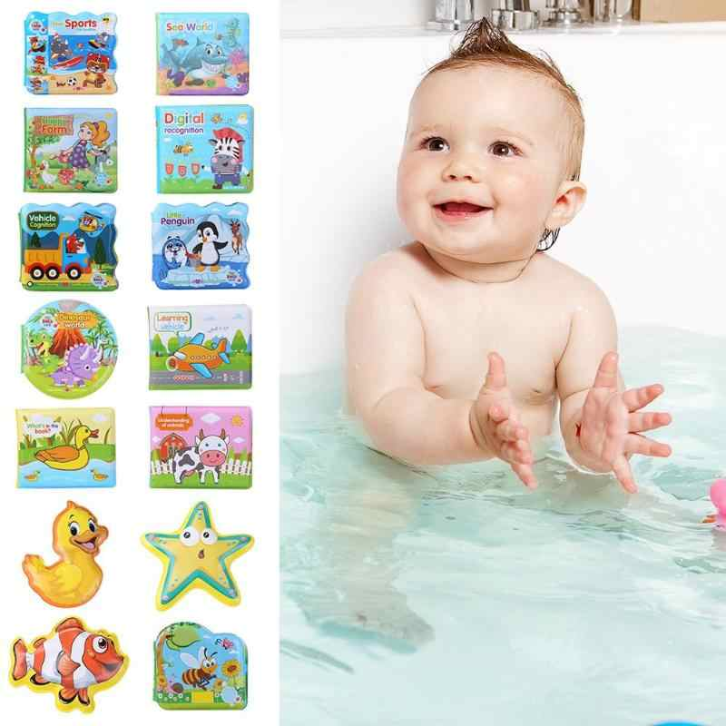 Baby EVA Sound Baby Bath Book Colorful Cartoon Tearing Resistance Waterproof Toy Infant Intelligence Educational Floating Toys