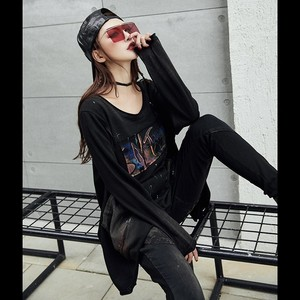Image 3 - Max LuLu 2019 Luxury Korean Harajuku Ladies Spring Tops Tee Womens Printed T Shirt Vintage Punk Clothes Female Black Long Tshirt