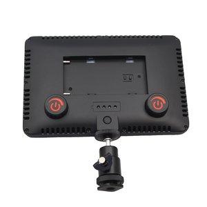 Image 3 - LED 一眼レフカメラビデオカメラ連続光、バッテリーと USB 充電器、キャリーケース写真写真ビデオスタジオ黒