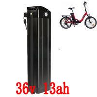 36V 500W electric bike battery 36V 10AH 12AH 13AH 15Ah Silver Fish Lithium ion battery with 15A BMS 42V 2A Charger free shipping