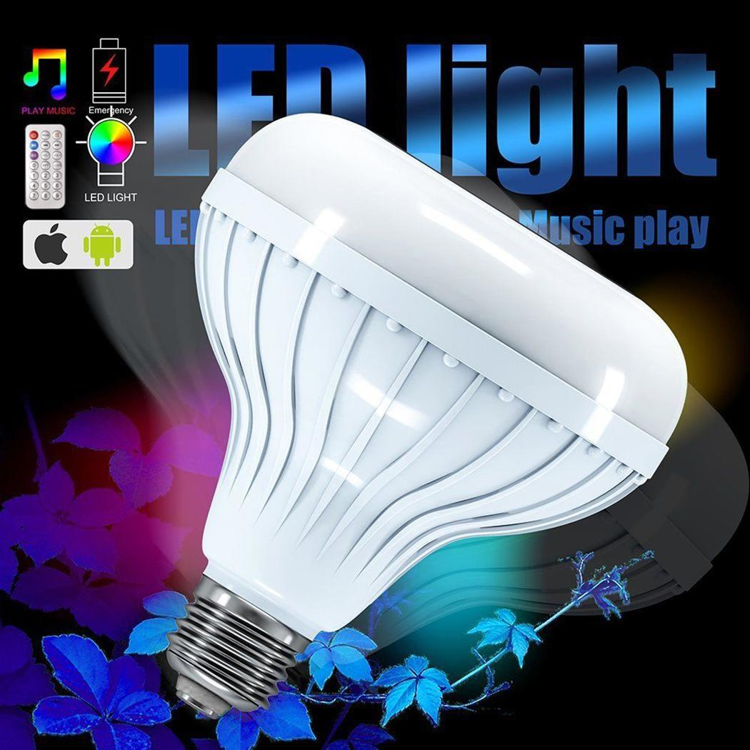 Bluetooth Home Office Wireless Remote Audio V3 A2DP Bulb Lamp Speaker Music Control Dinner with LED Party 12W 0 E27 12