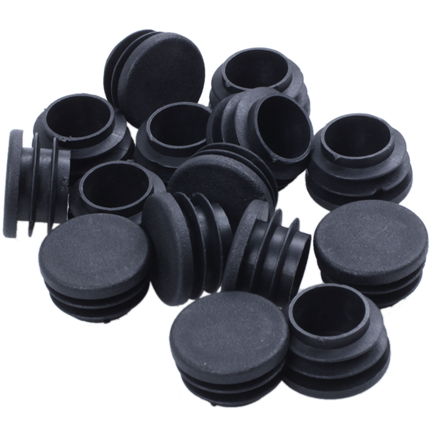15 pieces of Chair Table Legs End Plug 25mm Diameter Round Plastic Inserted Tube15 pieces of Chair Table Legs End Plug 25mm Diameter Round Plastic Inserted Tube