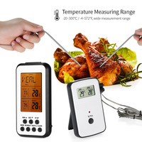 Kitchen Digital Thermometer Wireless Thermometer Temperature Gauge Countdown Timer With 2 Probes Alarms For Cooking Bbq Grill