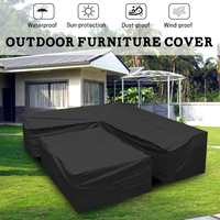 2pcs Polyester Piano Sofa Couch Covers Garden Furniture L Shape Sofa Cover Slipcover Living Room Outdoor Waterproof Dustproof
