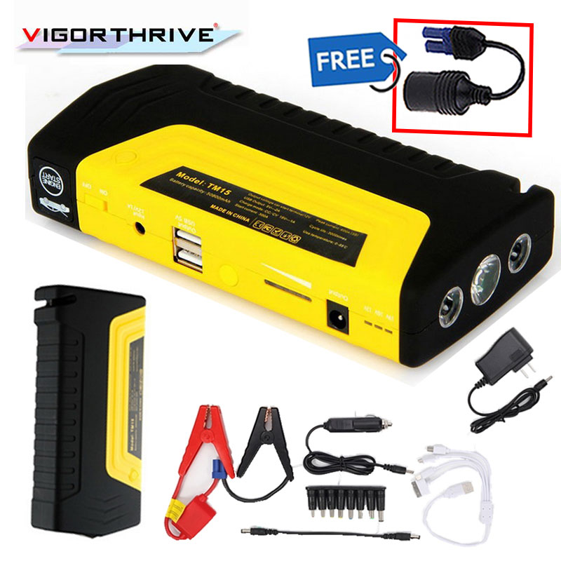 12V Petrol Diesel Mini Emergency <font><b>Car</b></font> <font><b>Jump</b></font> <font><b>Starter</b></font> Power Bank Portable Starting Device <font><b>Car</b></font> <font><b>Charger</b></font> For <font><b>Car</b></font> <font><b>Battery</b></font> Booster 600A image