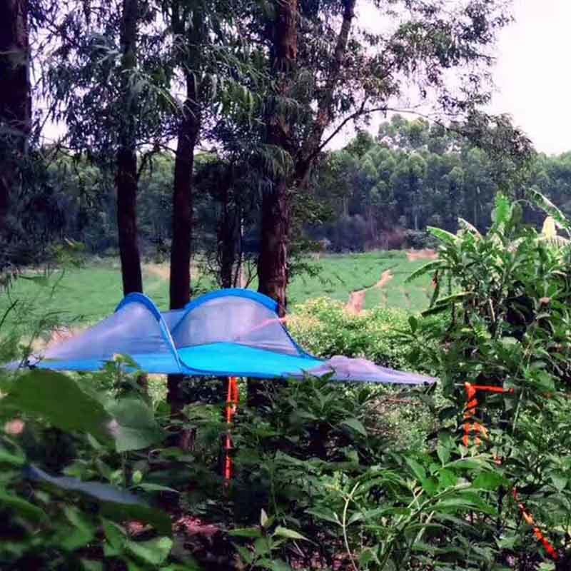 4bce8a64a90 Family Camping Tree Tent Bed 1 Person Tree Tent Outdoor Hiking Traveling  Tent Three Trees Hanging Tree Hammock Tent Bed-in Tents from Sports    Entertainment ...