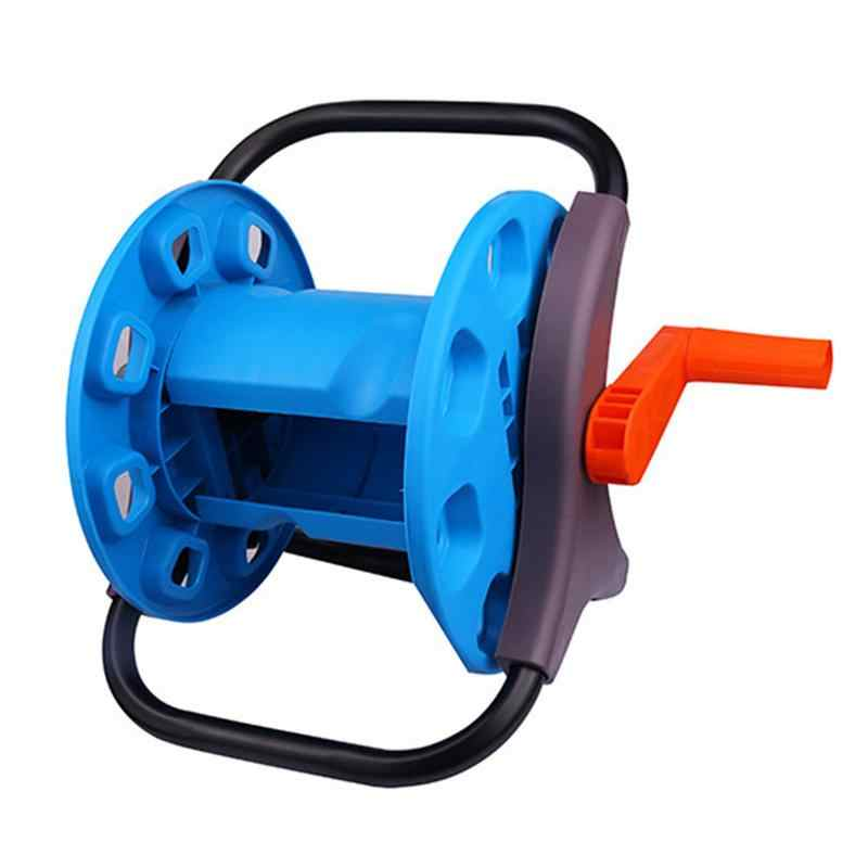 Water Hose Reel Holder Garden Cart Water Pipe Hose Carrier Trolley Garden Watering Washing Pipe Storage Container Holder