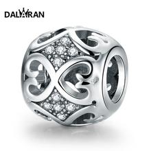 DALARAN 925 Sterling Silver Beads Fit Charm Bracelet Necklace DIY Fashion Jewelry For Women