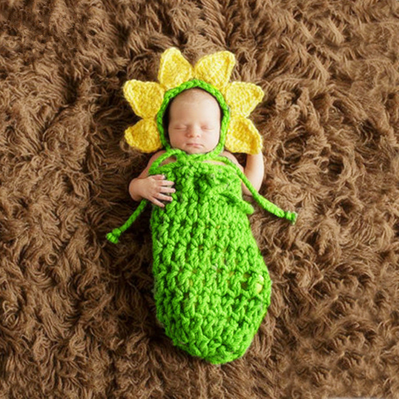 Newborn Photography Props Baby Hat+sleeping Bag Set Newborn Photo Shoot Clothing Baby Photo Props Photography Babies Accessories