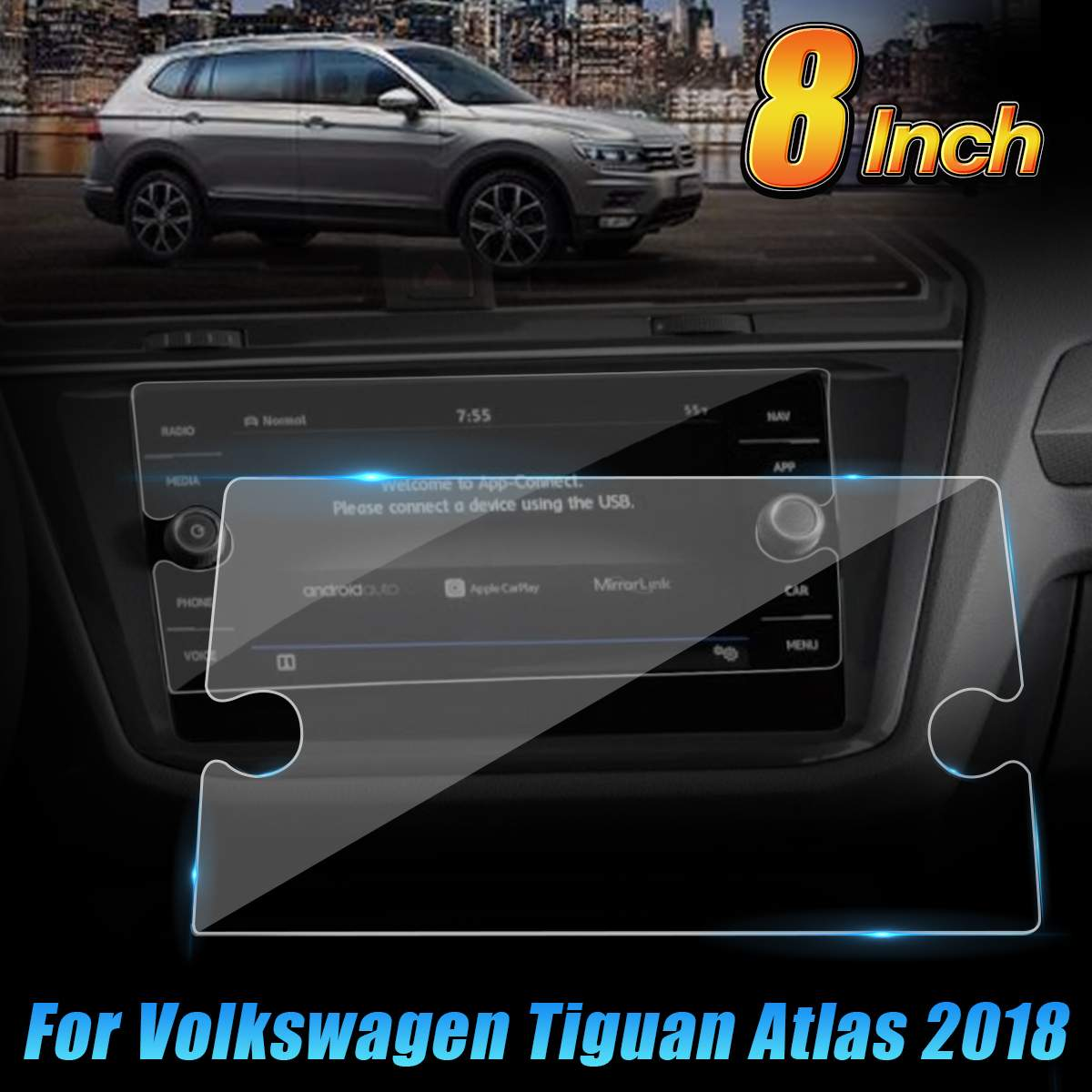 8 Inch Car GPS Screen Film Protector Navigation LCD Tempered Film For VW Tiguan Atlas For Volkswagen Tiguan (2018)8 Inch Car GPS Screen Film Protector Navigation LCD Tempered Film For VW Tiguan Atlas For Volkswagen Tiguan (2018)