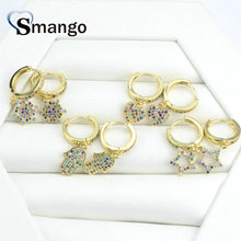 5Pairs,The Rainbow Series,The 4 Shape Women Fashion Earrings.Gold Colors, Can Mix,  Wholesale