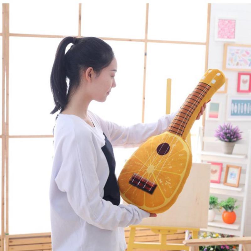 65cm Simulation Fruit Guitar Plush Toy Cute Kids PP Cotton Stuffed Plush Pillow Children Sleeping Cushion Bedding Accessories