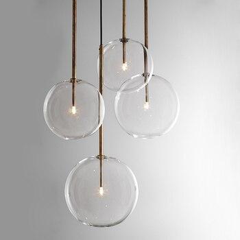Novelty Led Glass Ball Pendant Lights Lustre Lamp Reading Lamparas De Techo Colgante Moderna Restaurant Hanging Lamp Luminaire