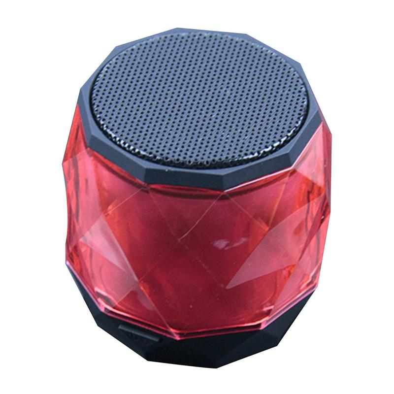 Image 2 - Portable Speaker Wireless Mini Bluetooth Player Small Diamond Shape Subwoofer Stereo Hd Sounds Music Surrounding Devices Home-in Portable Speakers from Consumer Electronics