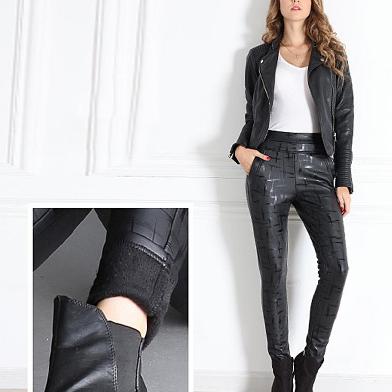 Pantalon de fond chaud hiver polaire doublé électrique à la mode à température constante pantalons chauds pour les femmes