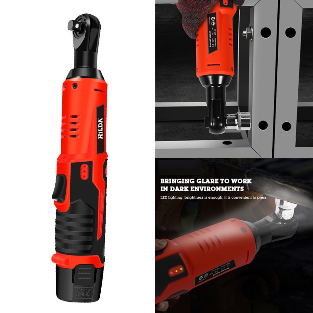 12v Lithium Battery Rechargeable Electric Wrench Portable Ratchet Wrench 90 Degree Power Tool Wrench Quick Charger Dropship12v Lithium Battery Rechargeable Electric Wrench Portable Ratchet Wrench 90 Degree Power Tool Wrench Quick Charger Dropship