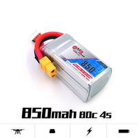 LeadingStar Gaoneng GNB Rechargeable 850mAh 14.8V 4S 80C/160C Lipo battery XT60 Plug for FPV Racing Drone RC Quadcopter