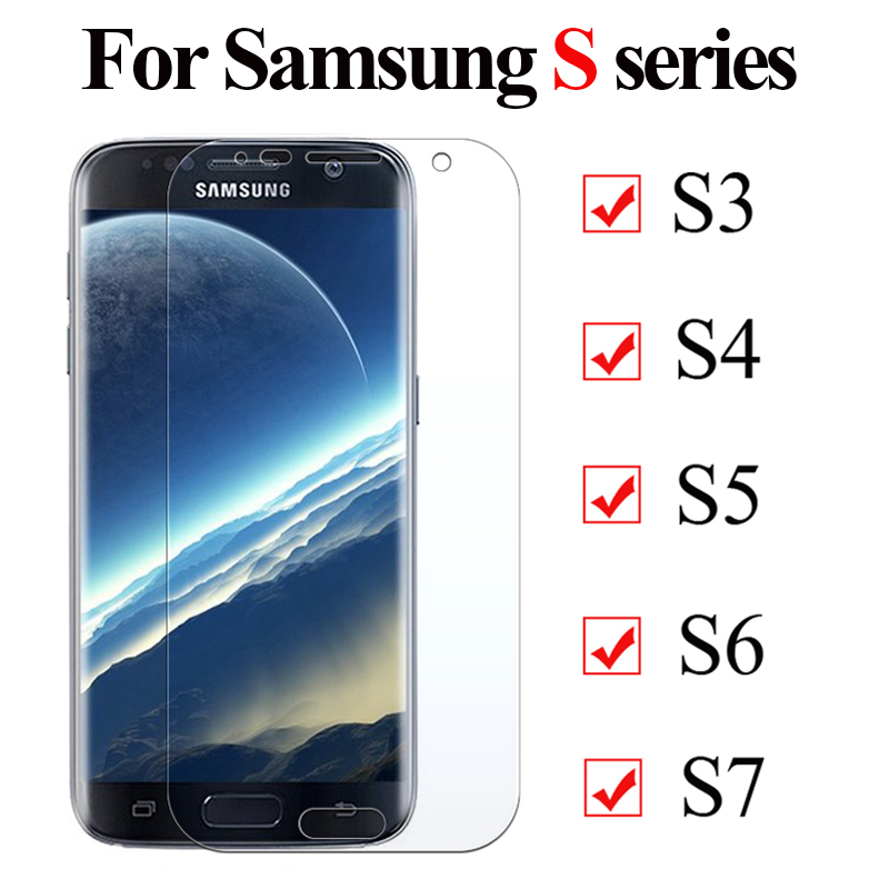 Protective Glass For Samsung Galaxy S7 S6 S5 S4 S3 2.5D Tempered Glas For Galaxy S4 Mini 7 6 4 3 5mini Screen Protector Film 9H