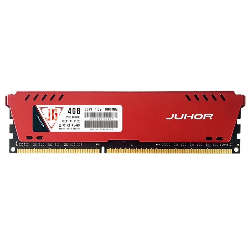 Mémoire Ram JUHOR Ddr3 1600Mhz 1.5V 240 broches avec dissipateur de chaleur pour pc de bureau