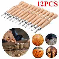Wood Carving Tool Kit 12 PCS/Set Graver Knife Root Woodworking Engraved Tools Wood Working Chisel Spoon Carving Knives Woodcut