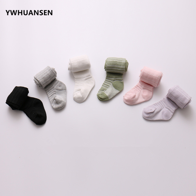 YWHUANSEN 0-6 Yrs Spring Summer Autumn Cute Baby Girls Mesh Cable Knit Tights Cotton Breathable Pantyhose For Toddler Girls Sale 4
