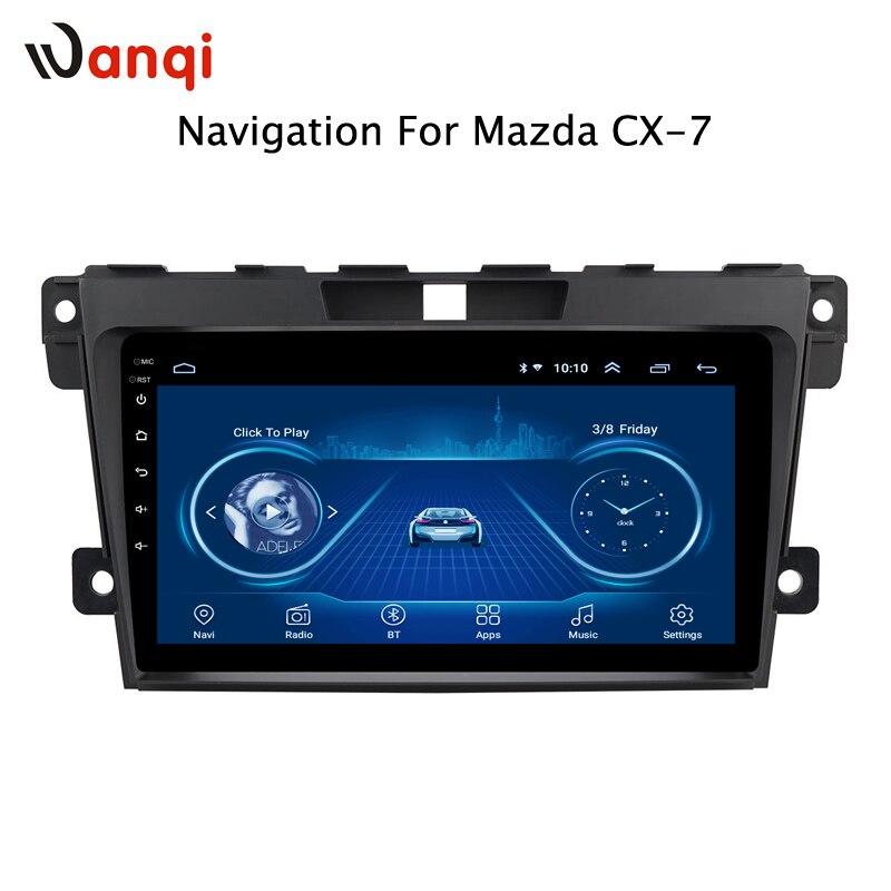 Lecteur vidéo multimédia Android 8.1 GPS Navigation Radio WIFI OBD2 pour Mazda Cx-7 cx7 cx 7 2008-2015