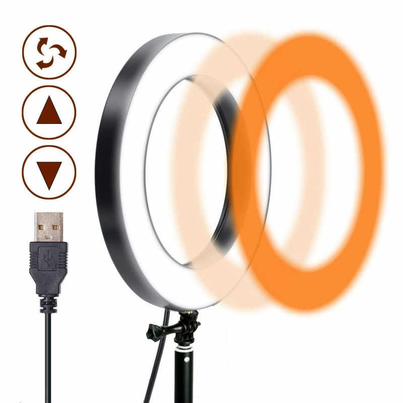 Selfie Ring Light 5 9 13 Inch 3200K-5600K LED Photography Lamp 3 Colors Mode for YouTube Video Makeup Photo Anillo De Luz Light