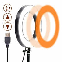 Luz de anillo de Selfie 5 9 13 pulgadas 3200 K-5600 K LED lámpara de fotografía Modo 3 colores para YouTube foto De maquillaje De vídeo Anillo De Luz